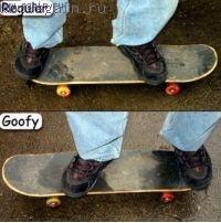 Стойка скейтера регуляр или гуфи
