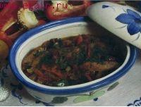 Свинина, тушенная с овощами